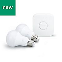 Philips Hue E27 LED A60 LED bulb, Pack of 2