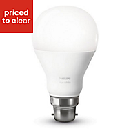 Philips B22 9.5W 806lm GLS Warm white LED Dimmable Light bulb