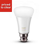 Philips Hue B22 LED Warm white GLS Dimmable Smart Light bulb