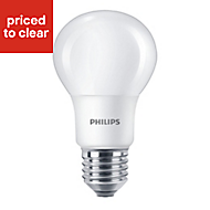 Philips E27 9W 806lm Classic Warm white LED Light bulb