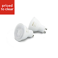 Philips GU10 5.5W 300lm Reflector Neutral white LED Dimmable Light bulb, Pack of 2