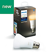 Philips Hue B22 LED Cool white & warm white Classic Dimmable Light bulb