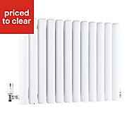 Ximax Vulkan Horizontal Designer radiator White (H)600 mm (W)885 mm