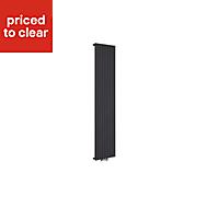 Ximax Fortuna twist Vertical Designer radiator Anthracite (H)1800 mm (W)295 mm