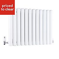 Ximax Vulkan Horizontal Designer radiator White (H)600 mm (W)1185 mm
