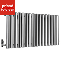 Ximax Vulkan Horizontal Designer radiator Grey (H)600 mm (W)1185 mm