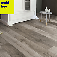 Masterfloor Uptown Grey Oak effect Laminate flooring, 1.76m²
