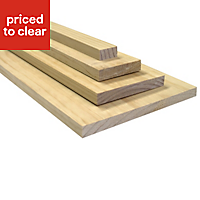 Smooth planed timber (T)19mm (W)38mm (L)2400mm