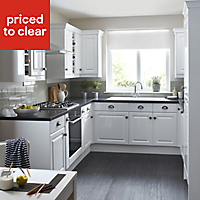 IT Kitchens Chilton Gloss White Style Glazed Cabinet door (W)500mm