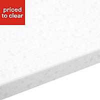 34mm Gemini Ice blue & white Stone effect Earthstone Bevel edge Kitchen Worktop Worktop, (L)1800mm