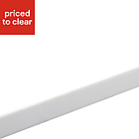 34mm Glacier Matt White Earthstone Round edge Kitchen Breakfast bar Worktop, (L)1800mm