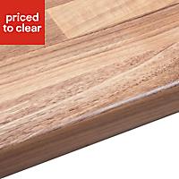 38mm Oak woodmix Wood effect Laminate Round edge Kitchen Breakfast bar Worktop, (L)3000mm
