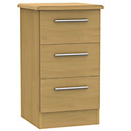 Montana 3 Drawer Bedside chest (H)700mm (W)400mm (D)410mm