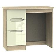 Monte carlo Cream oak effect 3 Drawer Dressing table (H)760mm (W)970mm (D)395mm