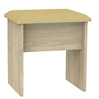 Monte carlo Cream Oak effect Dressing table stool (H)510mm (W)480mm (D)375mm