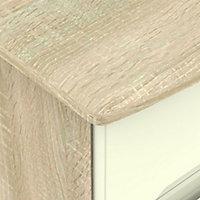 Monte carlo Cream oak effect Midi Double Wardrobe (H)1270mm (W)765mm (D)530mm