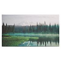 Mountain Green Canvas art (H)900mm (W)500mm