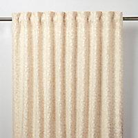 Mulgrave Beige Floral Unlined Pencil pleat Curtain (W)117cm (L)137cm, Single