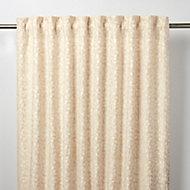 Mulgrave Beige Floral Unlined Pencil pleat Curtain (W)140cm (L)260cm, Single