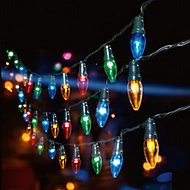 Multi action party 120 Multicolour LED Party String lights Green cable