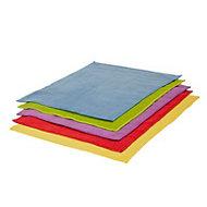 Multicolour Microfibre Cloth, Pack of 50