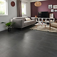 Natural Anthracite Satin Stone effect Porcelain Floor Tile Sample