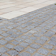 Natural granite Silver grey Granite Sett (L)100mm (W)50mm