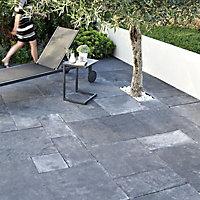 Natural limestone Blue black Paving slab (L)600mm (W)300mm
