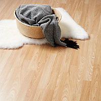 Natural Oak effect Laminate Flooring, 3m² Pack