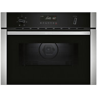 Neff N50 3350W Built-in Black Compact Oven with microwave
