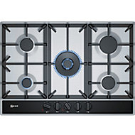 Neff T27DA69N0 5 Burner Black Gas Hob, (W)750mm