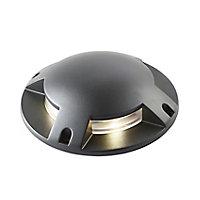 Neo Matt Black LED Outdoor Walkover light (D)210mm