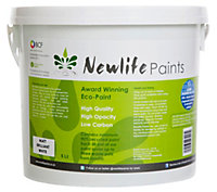 Newlife Paints Brilliant white Matt Emulsion paint 5L