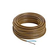 Nexans Brown 2 core Multi-core cable 0.75mm² x 25m