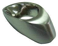 Nickel effect Zinc alloy Oval Hollow Furniture Knob