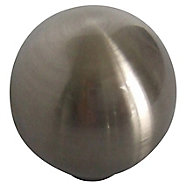 Nickel effect Zinc alloy Round Furniture Knob (Dia)32mm, Pack of 6