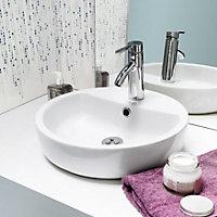Nicolina White Countertop basin