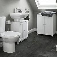 Nicolina White Vanity basin unit