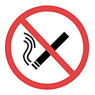 No smoking Self-adhesive labels, (H)100mm (W)150mm