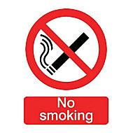 No smoking Self-adhesive labels, (H)200mm (W)150mm