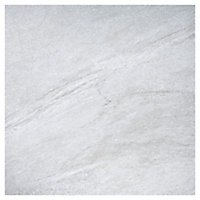 Nordic Medium grey Matt Stone effect Porcelain Outdoor Floor Tile, Pack of 2, (L)600mm (W)600mm