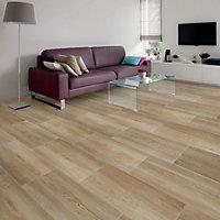 Nordico Beige Wood effect Porcelain Floor tile, Pack of 8, (L)618mm (W)310mm