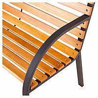 Norfolk Wooden Natural & black Bench