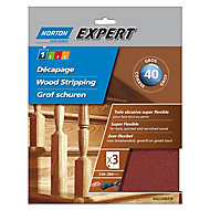 Norton Expert Aluminium oxide Coarse Hand sanding sheets, Pack of