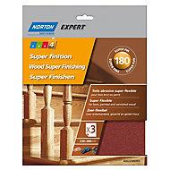 Norton Expert Aluminium oxide Extra fine Hand sanding sheets, Pack of