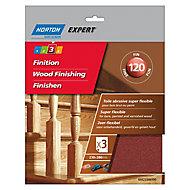 Norton Expert Aluminium oxide Fine Hand sanding sheets, Pack of