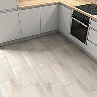 Norwegio Beige Matt Wood effect Ceramic Wall & floor Tile, Pack of 9, (L)573mm (W)322mm