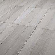 Norwegio Grey Matt Plank Wood effect Ceramic Wall & floor Tile, Pack of 9, (L)573mm (W)322mm