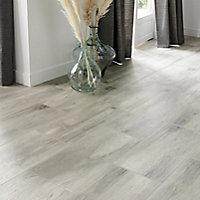 Norwegio Grey Matt Wood effect Ceramic Wall & floor Tile, Pack of 9, (L)573mm (W)322mm
