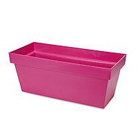 Nurgul Pink Plastic Rectangular Trough 57.8cm